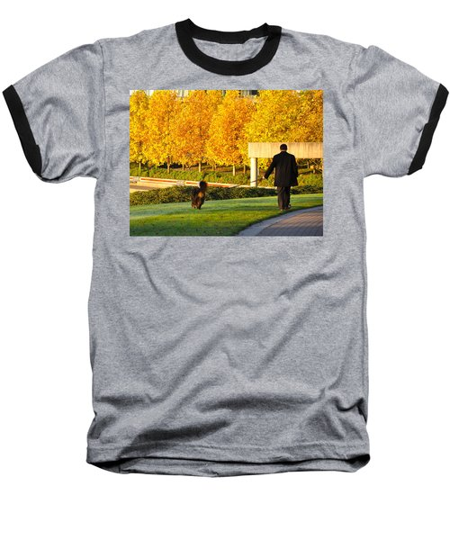 Walkies In Autumn Baseball T-Shirt