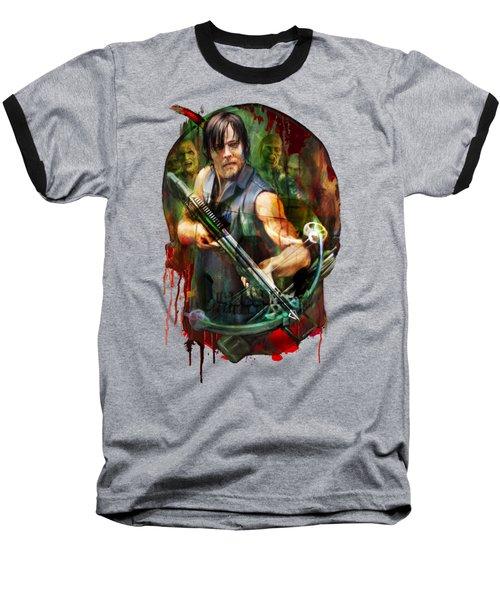 Walking Dead Mask Baseball T-Shirt
