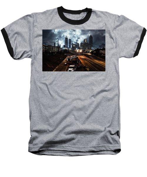 Walking Dead Tribute Downtown Atlanta Georgia  Baseball T-Shirt