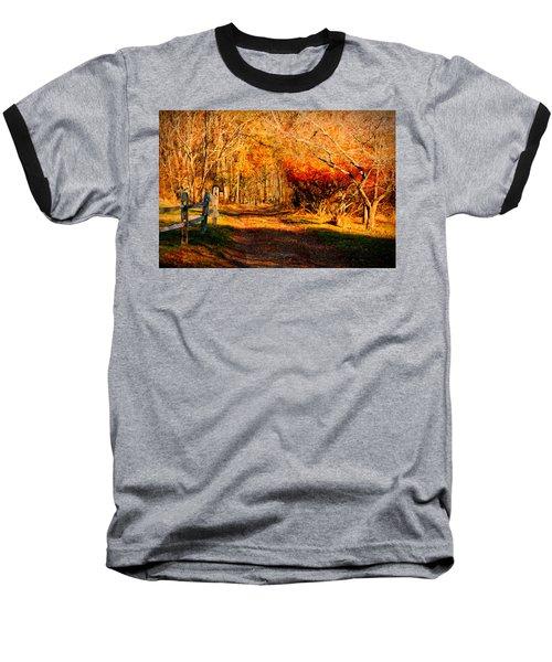 Walking Down The Autumn Path Baseball T-Shirt