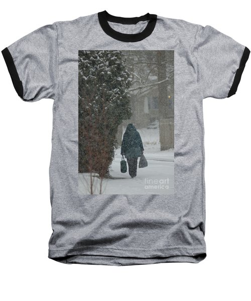 Walking Home In The Snow Baseball T-Shirt