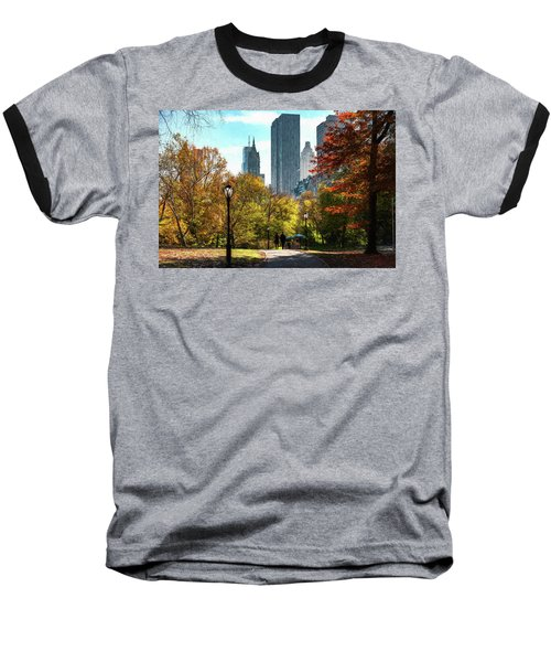 Walking In Central Park Baseball T-Shirt