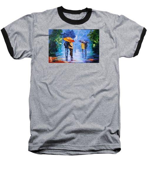 Walking In The Rain Baseball T-Shirt