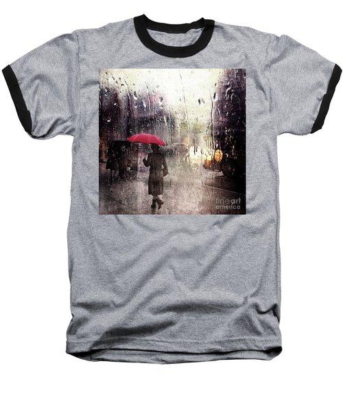 Walking In The Rain Somewhere Baseball T-Shirt