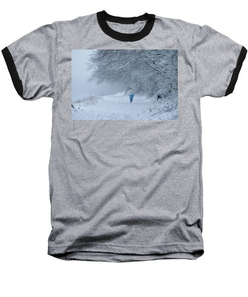 Walking In The Snow Baseball T-Shirt