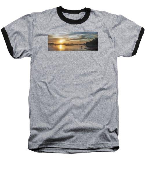 Walking In The Sun Baseball T-Shirt by John Swartz