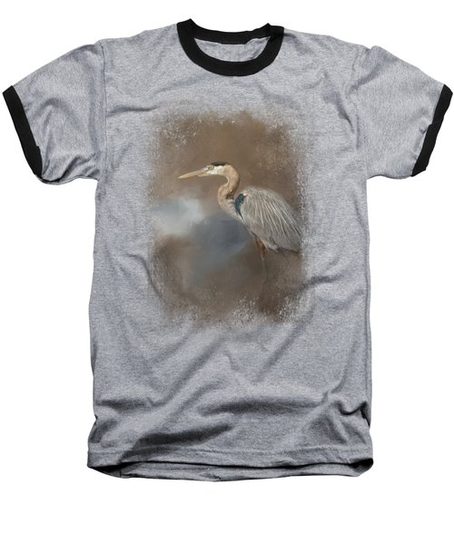 Walking Into Blue Baseball T-Shirt by Jai Johnson
