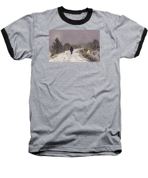 Walking Into The Light Baseball T-Shirt by Anne Gifford