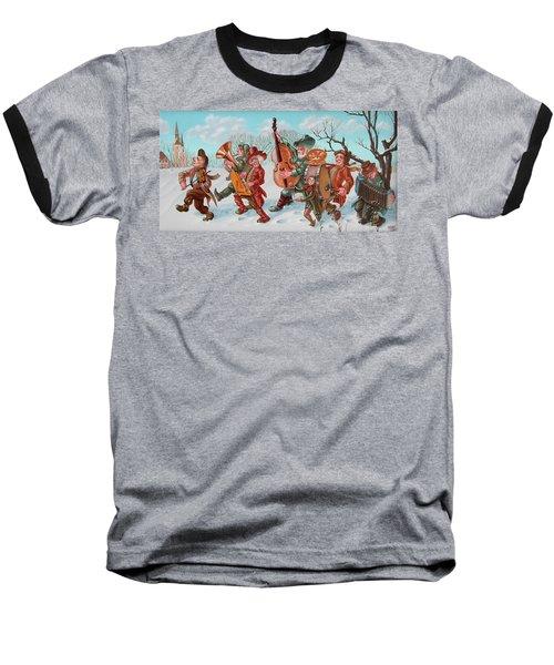 Walking Musicians Baseball T-Shirt