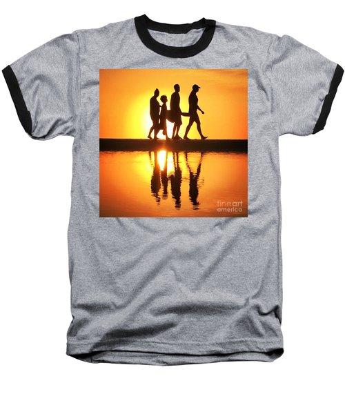Walking On Sunshine Baseball T-Shirt by LeeAnn Kendall