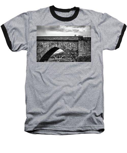 Walking On The Roman Bridge Baseball T-Shirt