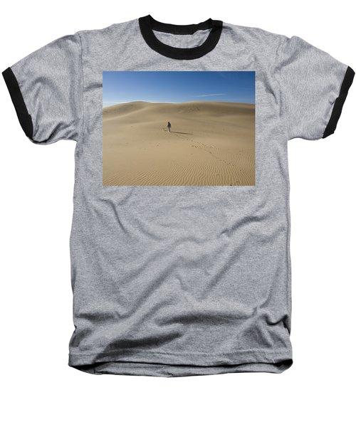 Walking On The Sand Baseball T-Shirt