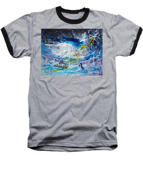 Walking On The Water Baseball T-Shirt by Kume Bryant