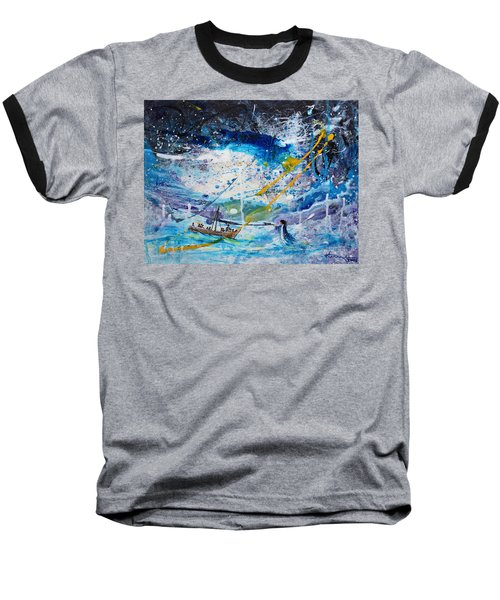 Walking On The Water Baseball T-Shirt