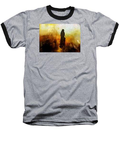 Walking Out From Chaos Baseball T-Shirt by Gun Legler