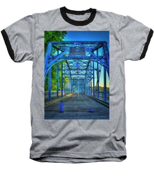 Walking Tall Walnut Street Pedestrian Bridge Art Chattanooga Tennessee Baseball T-Shirt by Reid Callaway