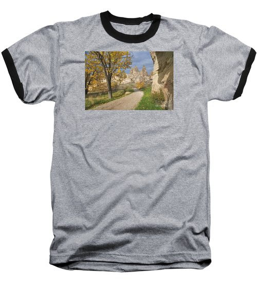Walking The Cappadocia Baseball T-Shirt by Yuri Santin