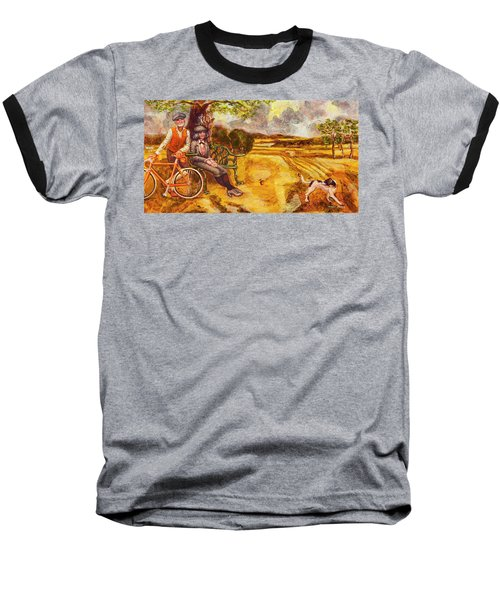 Walking The Dog After Gainsborough Baseball T-Shirt by Mark Jones
