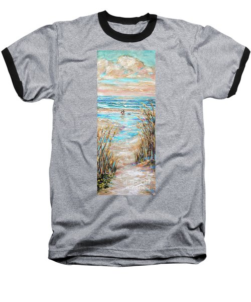 Walking The Dog IIi Baseball T-Shirt by Linda Olsen