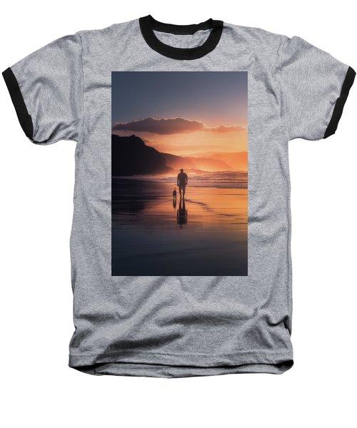Walking The Dog Baseball T-Shirt