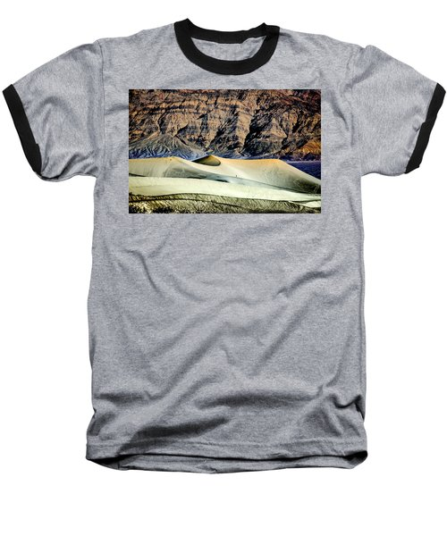Walking The Dunes In Death Valley Baseball T-Shirt by Janis Knight