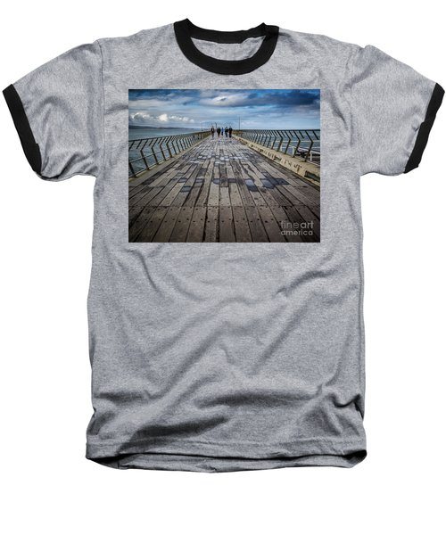 Baseball T-Shirt featuring the photograph Walking The Pier by Perry Webster