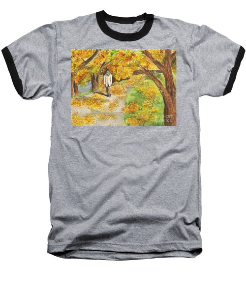 Walking The Truckee River Baseball T-Shirt by Vicki  Housel