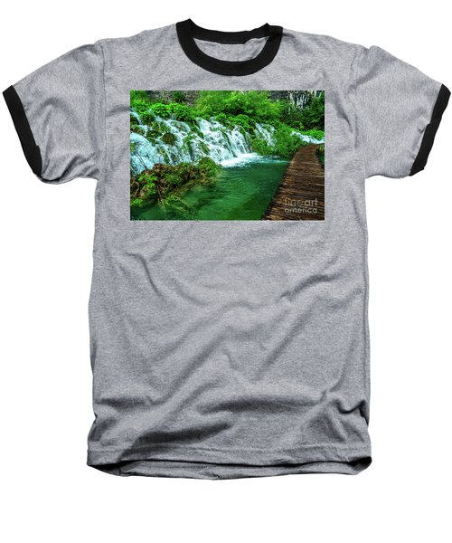 Walking Through Waterfalls - Plitvice Lakes National Park, Croatia Baseball T-Shirt