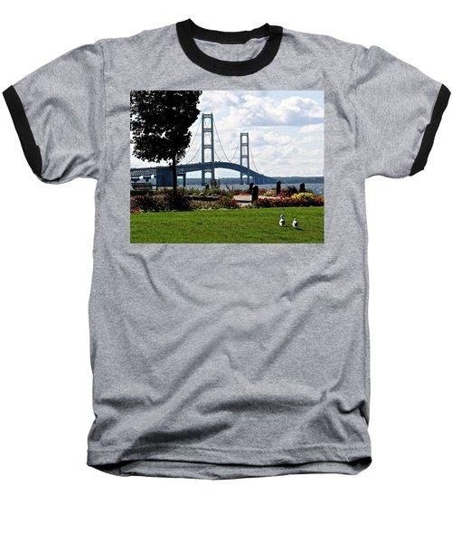 Walking To The Bridge Baseball T-Shirt