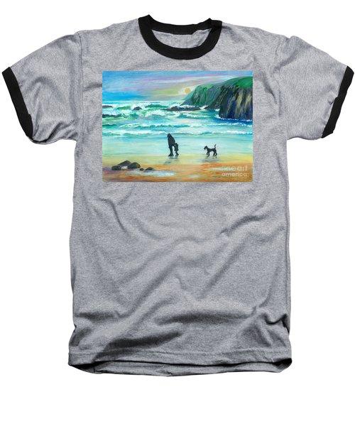 Walking With Grandpa - Painting Baseball T-Shirt