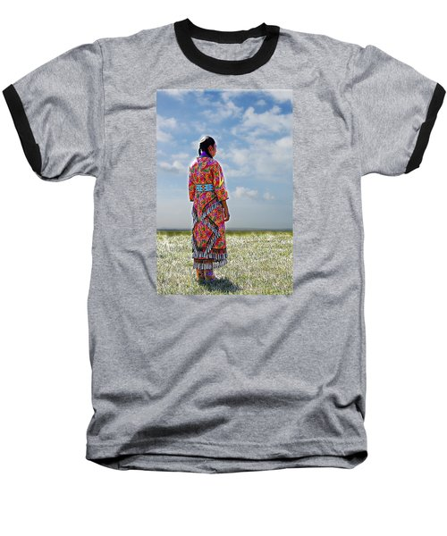 Walks In Beauty Baseball T-Shirt by Karen McKenzie McAdoo