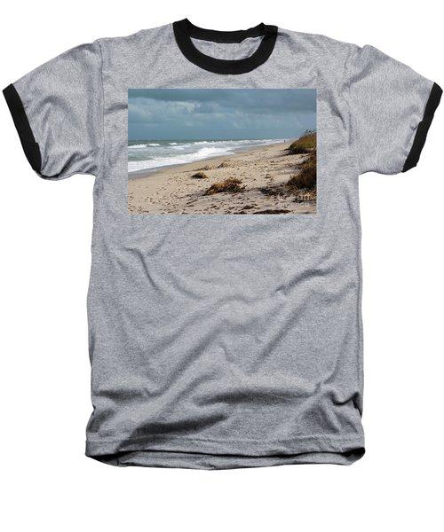 Walks On The Beach Baseball T-Shirt by Megan Dirsa-DuBois
