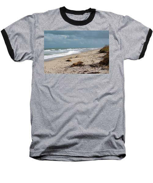 Walks On The Beach Baseball T-Shirt