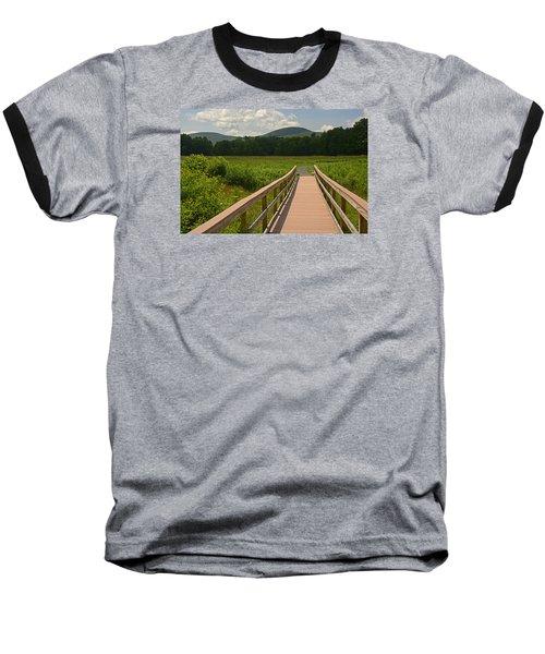 Walkway To A Mountain Color Baseball T-Shirt