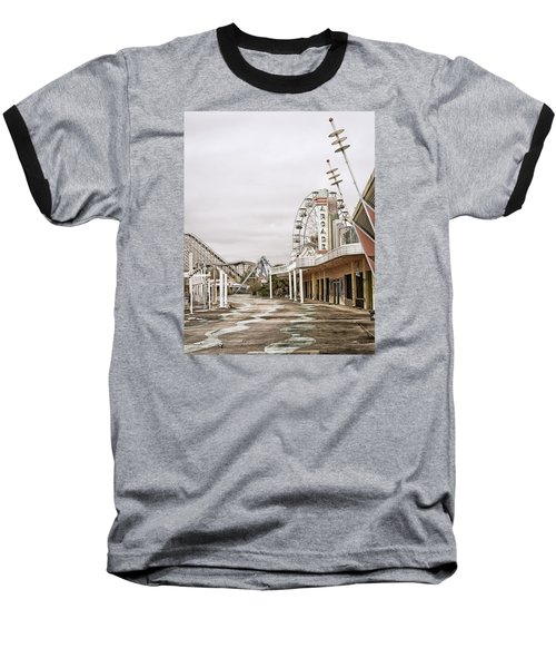 Baseball T-Shirt featuring the photograph Walkway To The Arcade by Andy Crawford