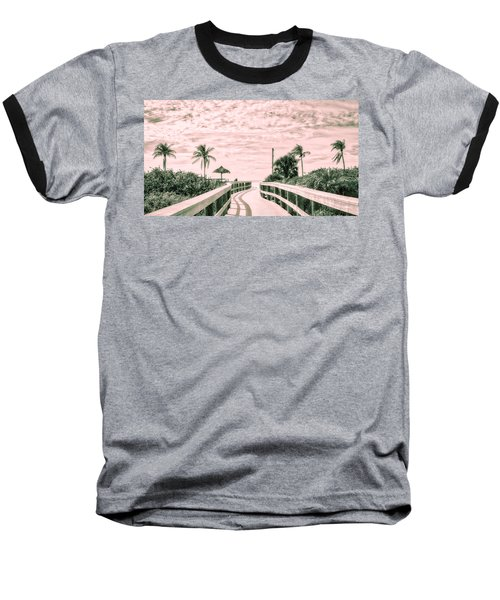 Walkway To The Beach Baseball T-Shirt