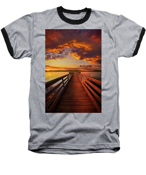Baseball T-Shirt featuring the photograph Walkyn Skywyrd by Phil Koch
