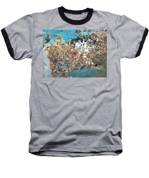 Wall Abstract 106 Baseball T-Shirt by Maria Huntley