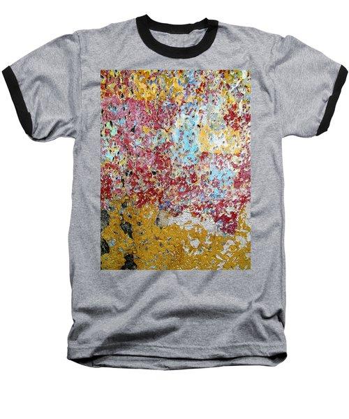 Wall Abstract 123 Baseball T-Shirt by Maria Huntley