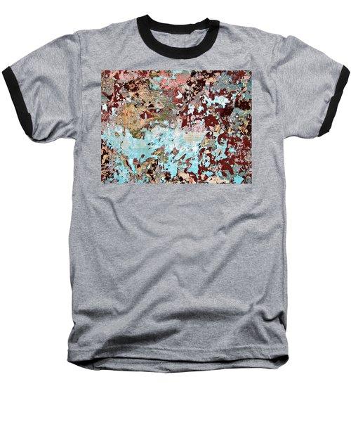 Wall Abstract 128 Baseball T-Shirt by Maria Huntley