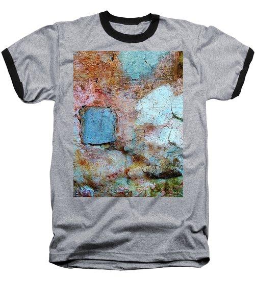 Wall Abstract 138 Baseball T-Shirt by Maria Huntley