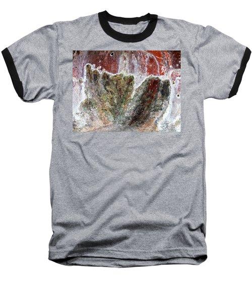 Wall Abstract 144 Baseball T-Shirt by Maria Huntley