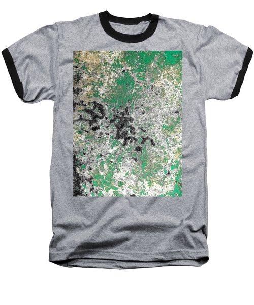 Wall Abstract 160 Baseball T-Shirt by Maria Huntley