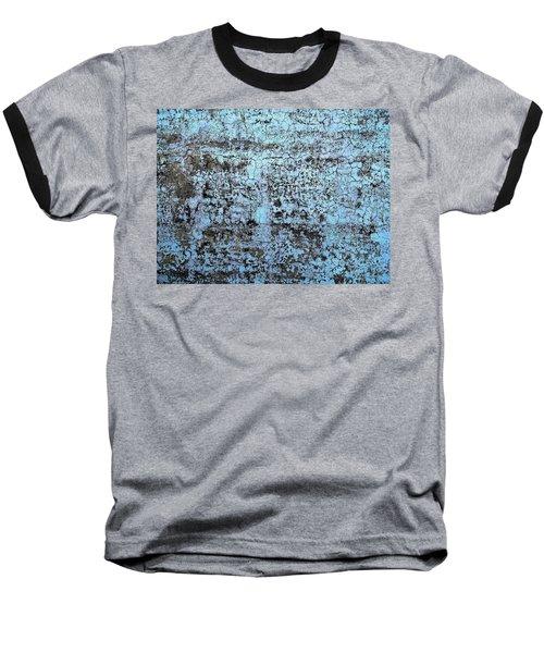 Wall Abstract 163 Baseball T-Shirt by Maria Huntley