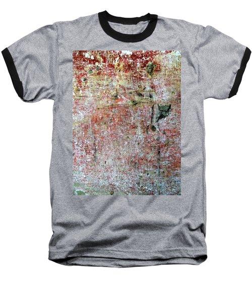 Wall Abstract 169 Baseball T-Shirt by Maria Huntley