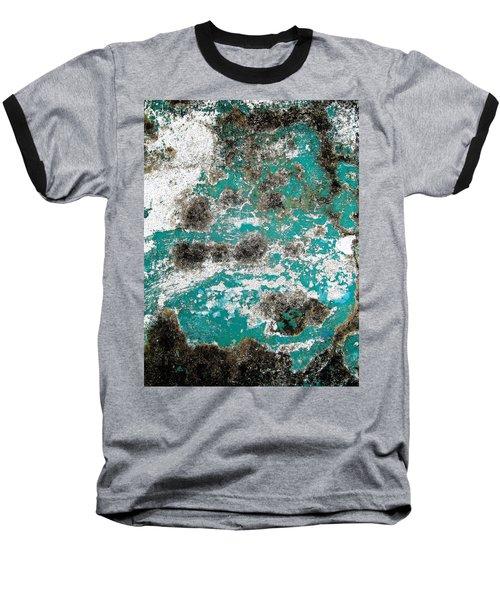 Wall Abstract 171 Baseball T-Shirt by Maria Huntley