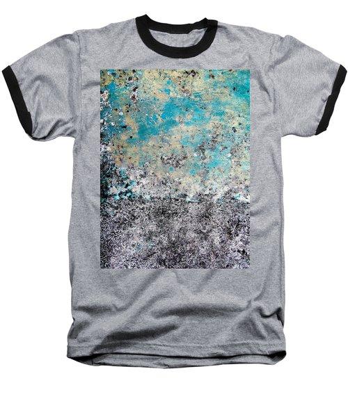 Wall Abstract 174 Baseball T-Shirt by Maria Huntley