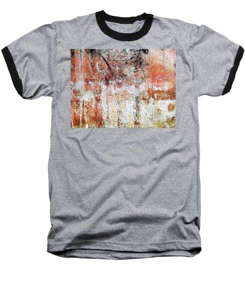 Wall Abstract  183 Baseball T-Shirt by Maria Huntley