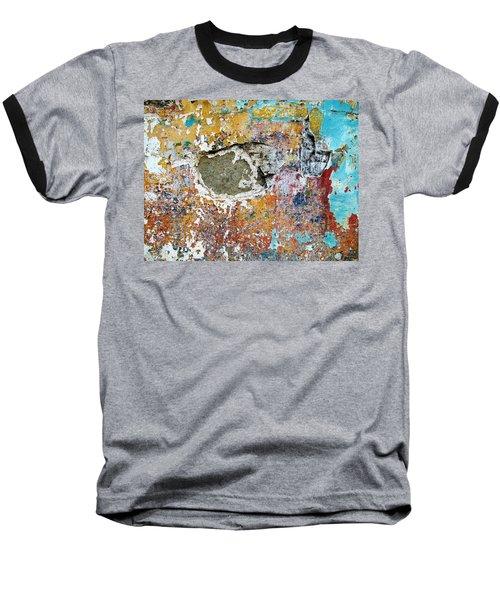 Wall Abstract 196 Baseball T-Shirt by Maria Huntley