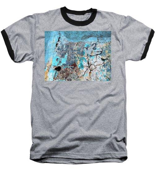 Wall Abstract 211 Baseball T-Shirt by Maria Huntley